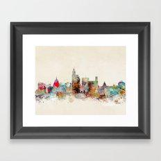 jackson mississippi skyline Framed Art Print