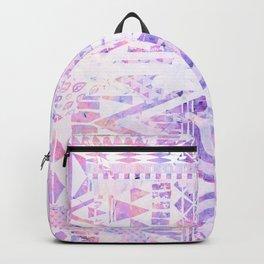 Pink purple iridescent ethnic pattern Backpack