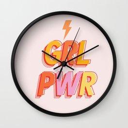 GRL PWR - GIRL POWER Wall Clock