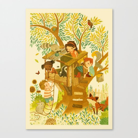 Our House In the Woods Canvas Print