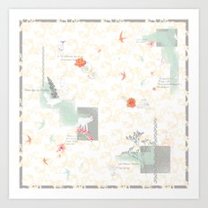 The Wildflower's Garden - Peach Art Print