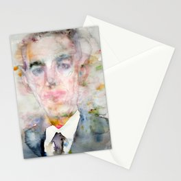 H. P. LOVECRAFT - watercolor portrait Stationery Cards
