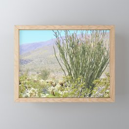 Spring in the Desert with Octotillo by Reay of Light Photography Framed Mini Art Print