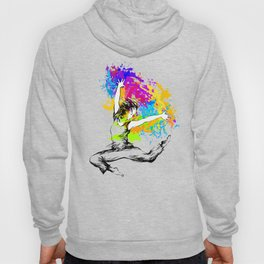 Hip hop dancer jumping Hoody