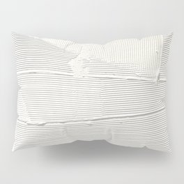 Relief [1]: an abstract, textured piece in white by Alyssa Hamilton Art Pillow Sham
