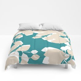 leves teal and tan Comforters