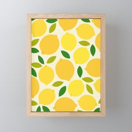 Lemon Framed Mini Art Print