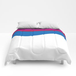 Fashion zigzag lines pink blue Elements Comforters