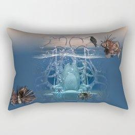 Neptuns Thron Rectangular Pillow