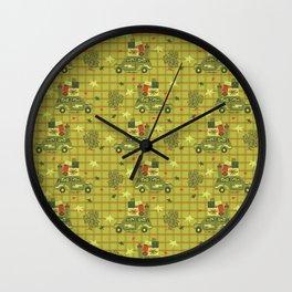Holiday Road Tripin' Wall Clock