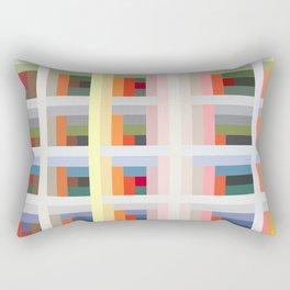 Colorful Trendy Vintage Grid Morgens Rectangular Pillow