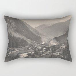 Old Swiss Mountain Litho Rectangular Pillow