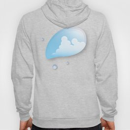 Thunderhead reflected in a Drop of water Hoody