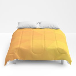 Abstract Geometric Gradient Pattern between Light Orange and Light Yellow Comforters