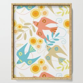 Peaceful Doves White Serving Tray