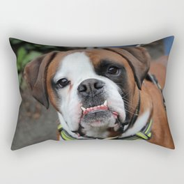 Boxer dog friend Rectangular Pillow