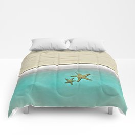 SANDY BEACH & STARFISH Comforters