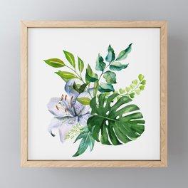 Flower and Leaves Framed Mini Art Print