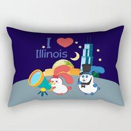 Ernest and Coraline | I love Illinois Rectangular Pillow