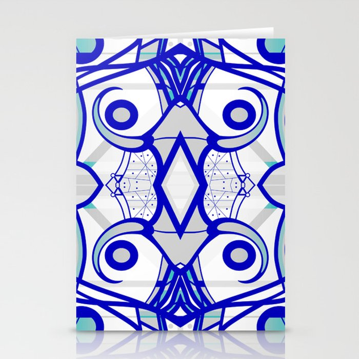 Blue morning - abstract decorative pattern Stationery Cards