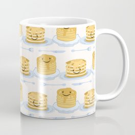 Cute vector blueberry pancake day breakfast illustration Coffee Mug