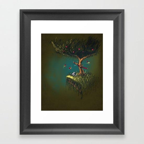 Apple Ninja Framed Art Print
