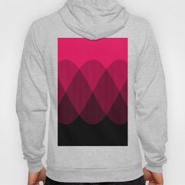 Bright red to Black Ombre Signal Hoody