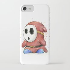 Shy Guy Watercolor Mario Art iPhone 7 Slim Case