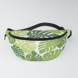 Monstera Leaves Pattern (white background) Fanny Pack