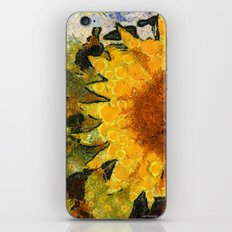 VG style fields of sunflowers iPhone & iPod Skin