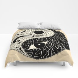 - yin & yang - [collaborative art with famenxt] Comforters