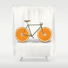 Zest (Orange Wheels) Shower Curtain