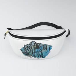 Colorful Hand Drawn Tiger Sketch Artistic Big Cat  Fanny Pack