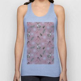 Xmas Pattern Pink #socieyt6 #buyart Unisex Tank Top
