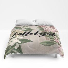 hallelujah vintage floral Comforters