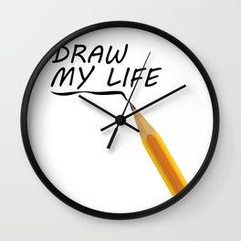 Draw my life Wall Clock