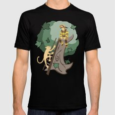 Stuck in a Tree MEDIUM Mens Fitted Tee Black