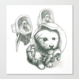 Jetpack Dog | Fluffy Canvas Print