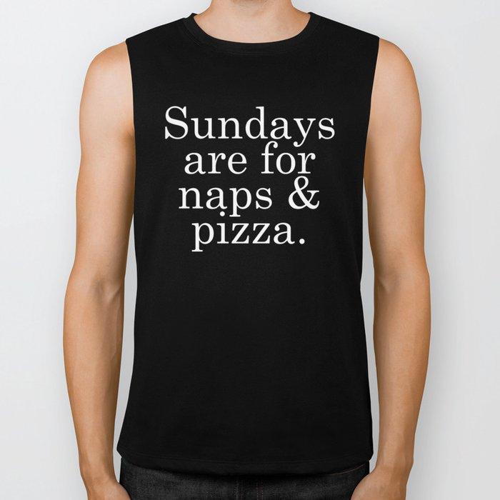 Sundays are for Naps & Pizza Biker Tank
