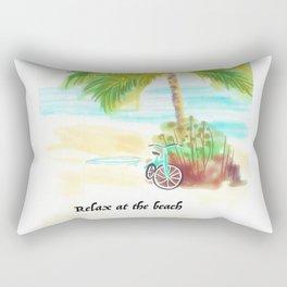 Relax at the Beach Rectangular Pillow