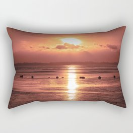 Atomic Sunset Rectangular Pillow
