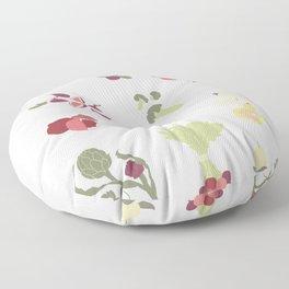 Fall Fruits and Veggies Floor Pillow