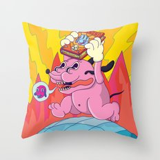 pichicho to the world! Throw Pillow