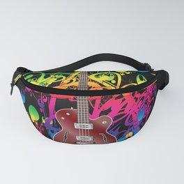 Bass Guitar Color splash Fanny Pack