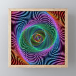 Psychedelic Spiral Stripes Framed Mini Art Print