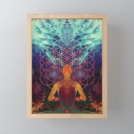 Flower Of Life (The Journey) Framed Mini Art Print