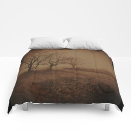 Three Dark Trees Comforters