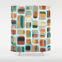 rothko Shower Curtains featuring Color apothecary by Efi Tolia