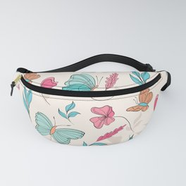 Flower and butterfly Fanny Pack