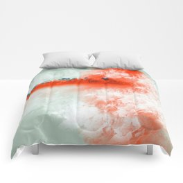 Frosted to Red Comforters